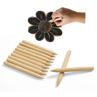 Colorations[r] Scratch Designs Jumbo Wooden Art Sticks - Set of 48