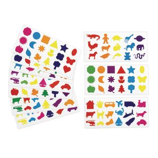 Colorations[r] Familiar Shapes Stickers - 60 Sheets