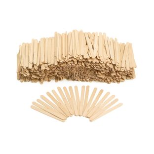 Colorations Regular Wood Craft Sticks - 1000 Pieces