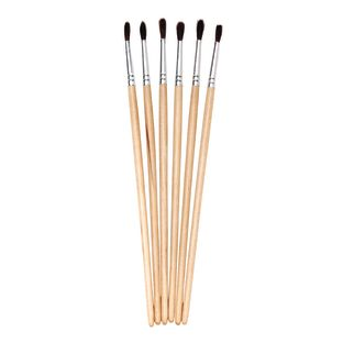 Colorations Natural Fine Brushes, 6 Pieces