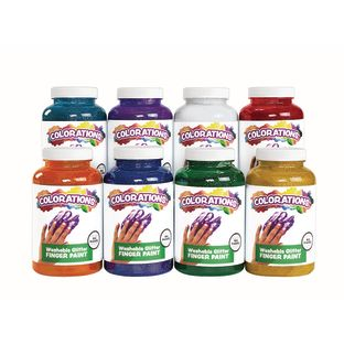 Colorations® Washable Glitter Finger Paints - Set of all 8