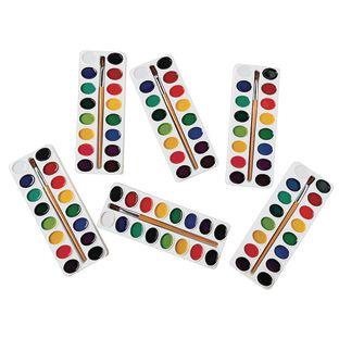 Colorations[r] Best Value Washable Watercolors, 16 Color - Set of 6 Refills
