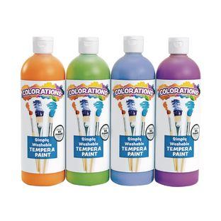 Colorations® Simply Washable Tempera Paints, Cool Colors, 16 oz. - Set of 4