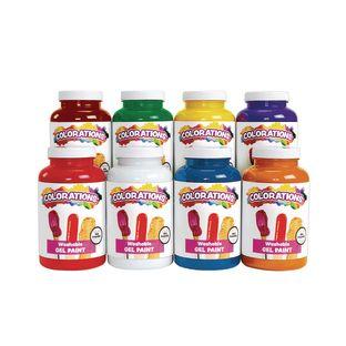 Colorations® Washable Gel Paint 16 oz Set of 8