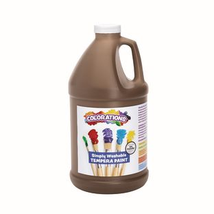 Colorations® 1/2 Gallon Brown Simply Washable Tempera Paint