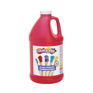 Colorations® 1/2 Gallon Red Simply Washable Tempera Paint