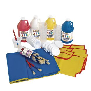 Colorations® Tempera Paint Kit Including Mock, Mat, Paint Brushes and Cups