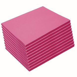 "Heavyweight Hot Pink Construction Paper, 9"" x 12"", 500 Sheets"