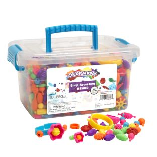 Colorations® Snap Accessory Beads, Set of 1000