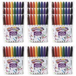 12 Packs of Dry Erase Markers, Fine Tip, 12 Sets