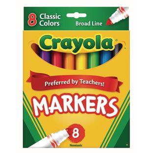 Crayola® Conical Tip Markers – Regular, Set of 8
