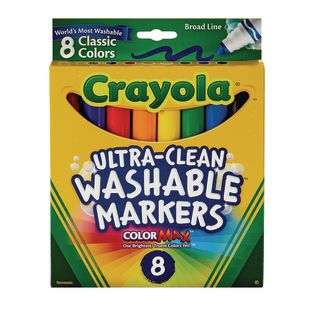 Crayola® Conical Tip Markers, Washable, Set of 8