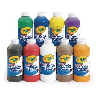 Crayola® Washable Paint, 16oz - Set of 9