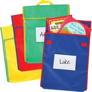 Store More® Large Book Pouches - Primary Colors - Set Of 4