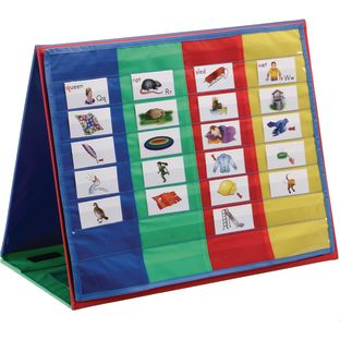 4-Column Desktop Pocket Chart™ And Stand - 1 chart, 1 stand
