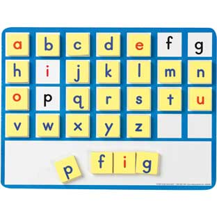 EZread™ Magnetic Word Building Kit - 1 tray, 52 letters