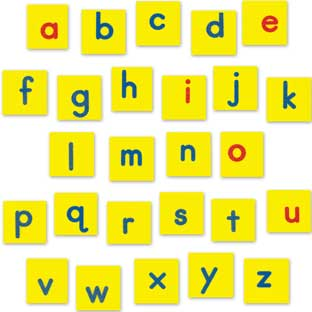 EZread™ Magnetic Foam Lowercase Letter Tiles - 52 tiles