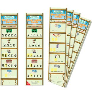 Long Vowels, Blends and Digraphs Word Ladder Cards