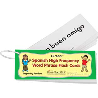 EZread™ Spanish High Frequency Word Phrase Flash Cards: Beginning Reader