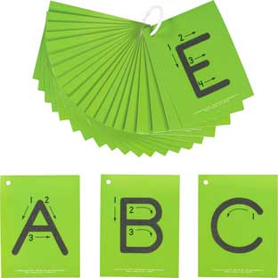 EZread™ Sandpaper Tactile Letters: Uppercase - 26 cards