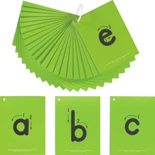 EZread™ Sandpaper Tactile Letters: Lowercase - 26 cards