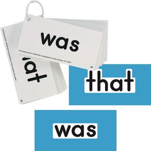 EZread Dolch Primer Sight Word Flash Cards, Card Size: 6'' x 3'', Set of 52 Cards, Grades PreK-1