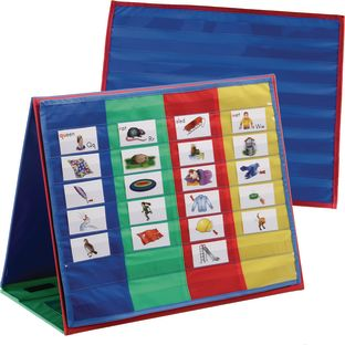 Desktop Pocket Charts And Stand - 2 pocket charts, 1 chart stand