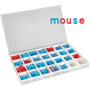 EZread™ Color-Coded Plastic Magnetic Letter Kit