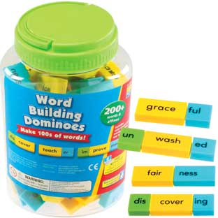 Word Building Dominoes - 200+ dominoes