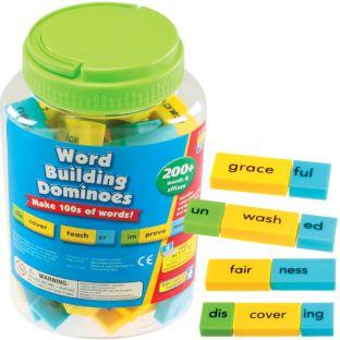 Word Building Dominoes - 200+ dominoes