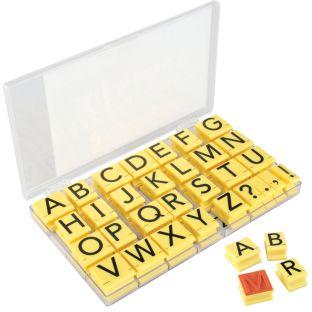 Jumbo Uppercase Alphabet Rubber Stamp Letters