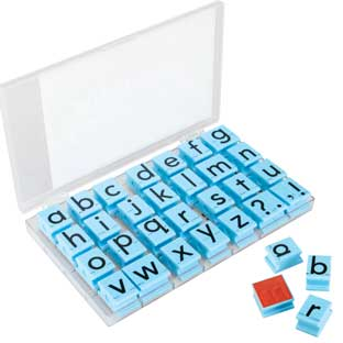 Jumbo Lowercase Alphabet Rubber Stamp Letters