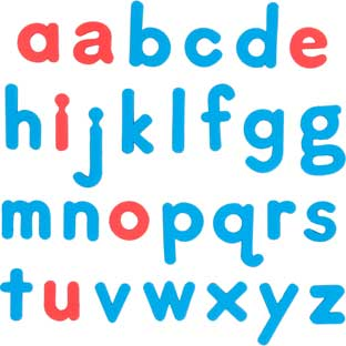 EZread Soft Touch™ Large, Foam, Color-Coded Magnetic Lowercase Letters - 80 letters