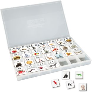 EZread™ Magnetic Photo Tiles: Beginning Sounds With Storage Case - 175 tiles, 1 case, 52 stickers