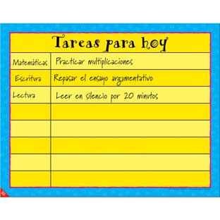 Tareas para hoy (Today's Assignments Poster) - 1 poster