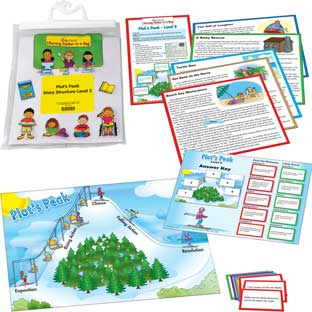 Plot's Peak Story Structure Level 2 Literacy Center - multi-item set