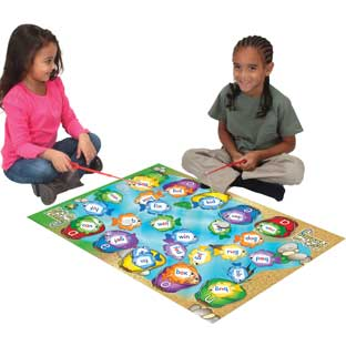 Let's Go Fishing CVC Words - 125 fish, 2 poles, 1 mat