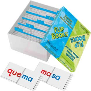 Spanish Syllable Flip Books - 30 flip books, 1 storage box