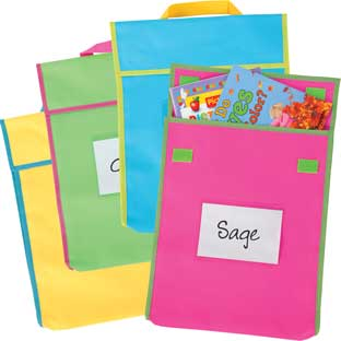 Store More® Large Book Pouches - Neon Multicolor - Set Of 36