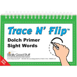 Trace N' Flip™: Dolch Primer Sight Words - 6 flip books