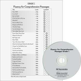 Fluency For Comprehension Set - Passages and CDs - Grade 1