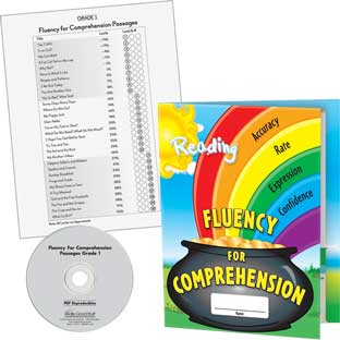 Fluency For Comprehension Kit: Grade 1 - 30 cards, 12 folders, 1 CD