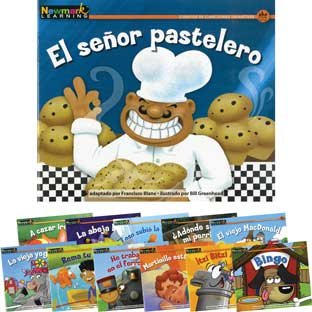 Rising Readers Fiction: Nursery Songs And Stories - Spanish