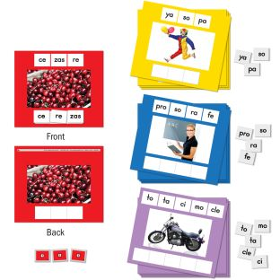 Mixed Up Syllables - Mezcla de sA­labas - 30 mats, 114 tiles