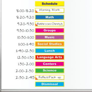 Class Schedule Magnets - 30 magnets