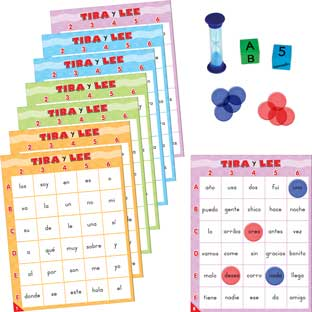 Roll And Read: Tira y lee: palabras de uso frecuente (Spanish High-Frequency Words) - 1 game
