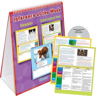 Inference Of The Week Flip Chart - 1 flip chart, 10 answer key cards