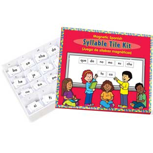 Magnetic Syllable Tile Kit - Spanish - 102 tiles, 1 storage box