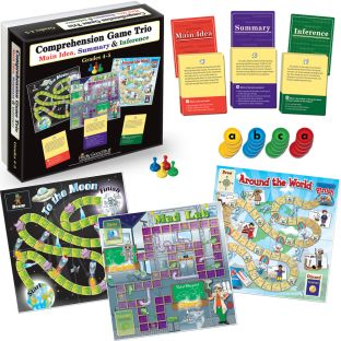 Comprehension Game Trio: Main Idea, Summary and Inference - Grades 4-5 - 1 kit