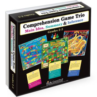 Comprehension Game Trio: Main Idea, Summary and Inference - Grades 2-3 - 1 kit